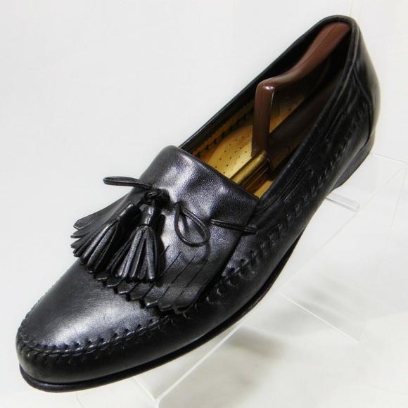 Santoni Other - SANTONI Tassel Loafers 12 B Narrow US Black Italy